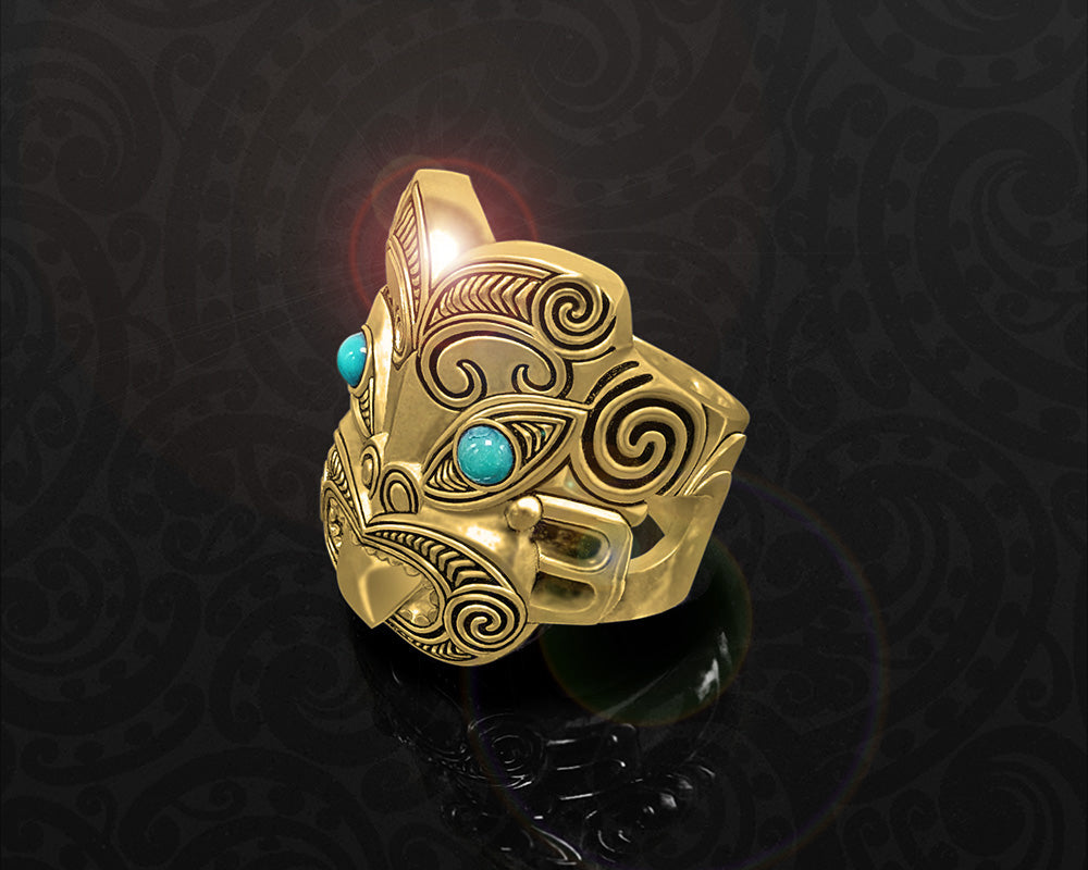 maori ring brass war warrior god tumatauenga
