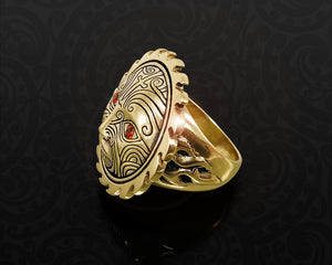 maori ring brass sun god tamanuitera