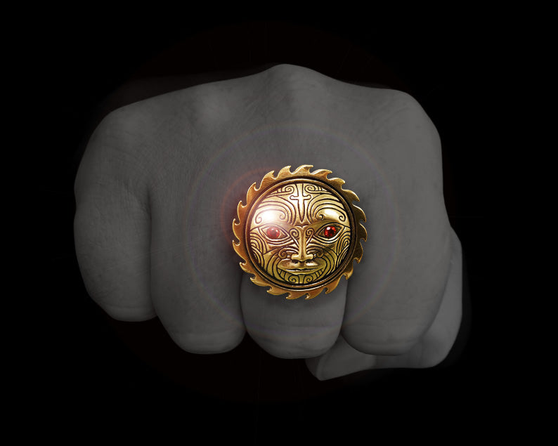 maori ring gold sun god tamanuitera