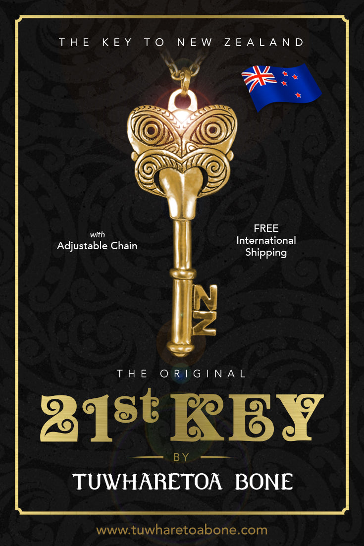 Maori 21st Key Necklace | The Key to New Zealand