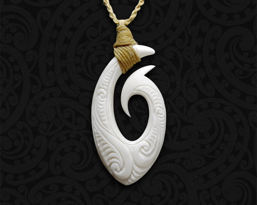 new zealand maori necklace fish hook