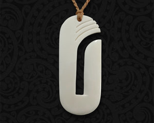 new zealand maori necklace bone hook