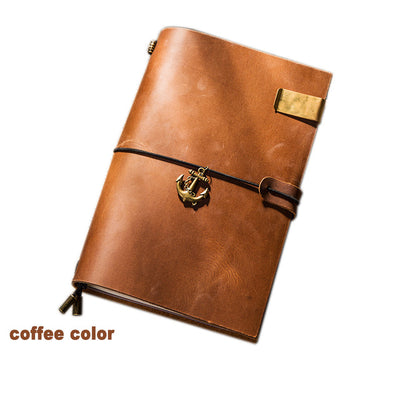 Vintage Genuine Leather Notebook Diary Travel Journal