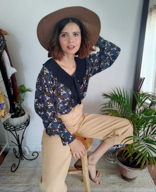 Romi Story Label Blouse