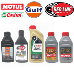 Brake Fluids - Castrol, Gulf, Motul, Red Line - at Perry Performance & Competition