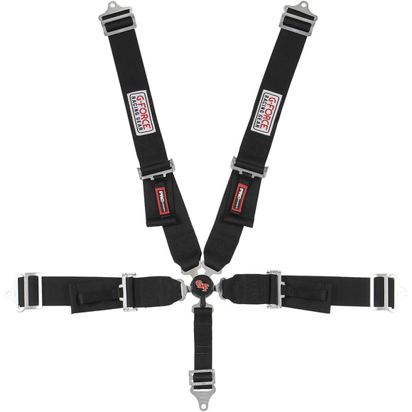 G-Force Pro Series Cam Lock 5-pt Belts - Black