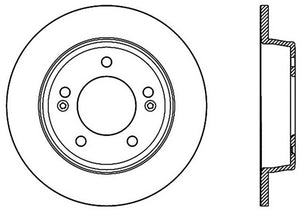 StopTech Sport Slotted 11-17 Hyundai Elantra Rear Left Slotted Rotor