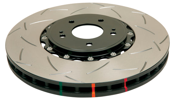 DBA52650BLKS-10 DBA T3 5000 Series Slotted Rotor, Black - FRONT