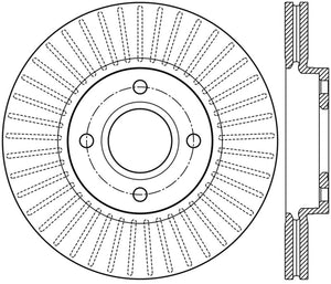 StopTech 2014 Ford Fiesta Left Front Disc Slotted Brake Rotor