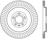 StopTech Premium High Carbon 13-14 Ford Mustang/Shelby GT500 Left Rear Disc Slotted Brake Rotor
