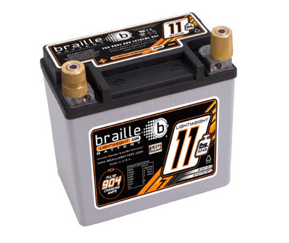 B14115 Braille Lightweight AGM Battery - 11.5lbs/904PCA