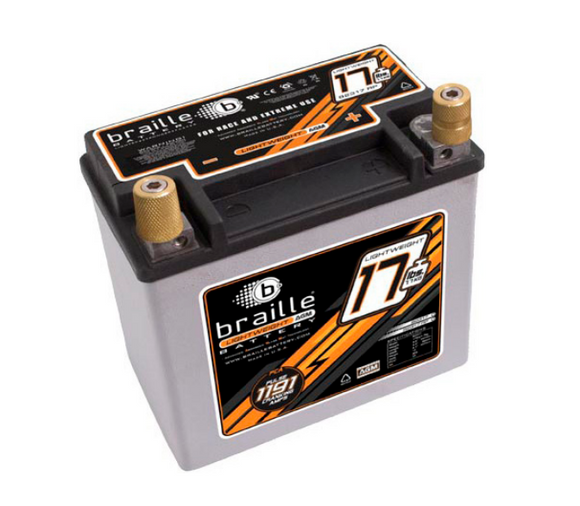 B2317RP Braille Lightweight AGM Battery 17lbs/1191PCA