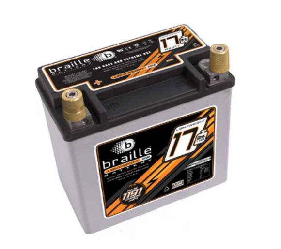 B2317 Braille Lightweight AGM Battery 17lbs/1191PCA