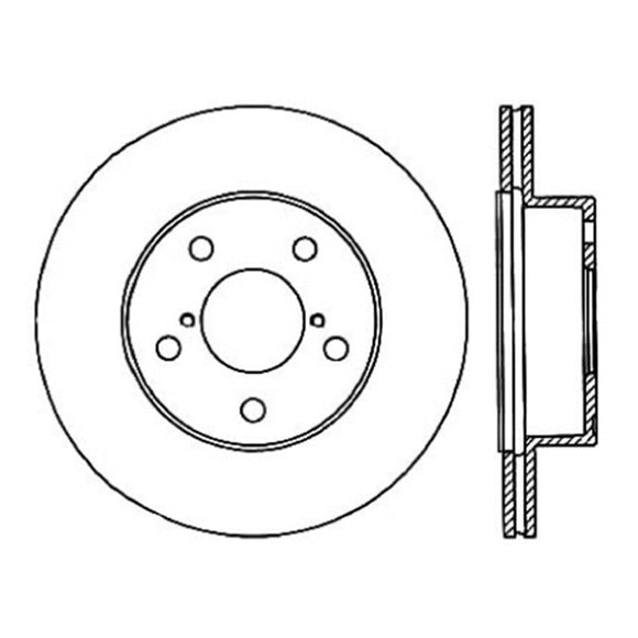 StopTech Power Slot 05-07 STi Rear Left Slotted Rotor