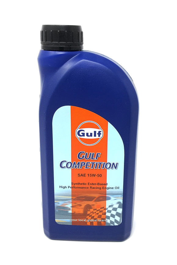 gulf competition 15W50 racing motor oil 1 liter bottle