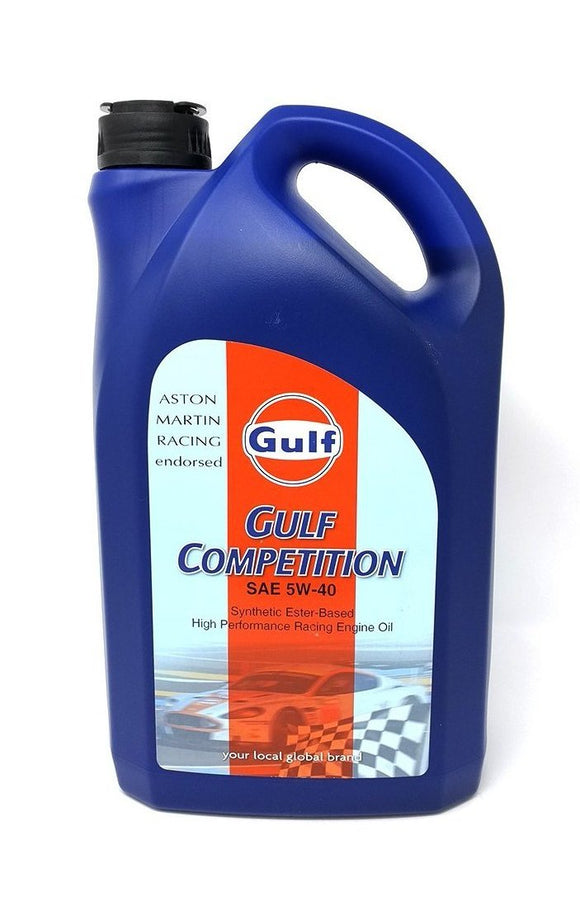 gulf competition 5w40 racing motor oil 5 liter bottle