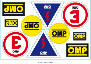 OMP Assorted Safety Decals Set