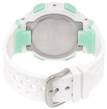 Load image into Gallery viewer, White and mint 40 mm digital water resistant sport watch - SP12701