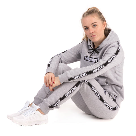 Ladies Dweller Tracksuit (Hoodie and Joggers) - Grey