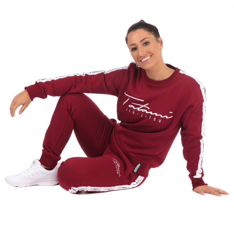 Ladies Autograph Tracksuit (sweater and Joggers) - Burgundy