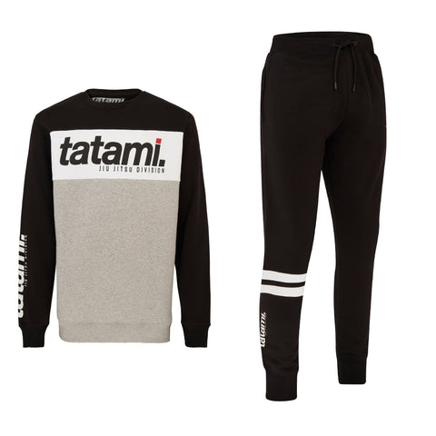 Base Tracksuit (sweater and Joggers) - Black