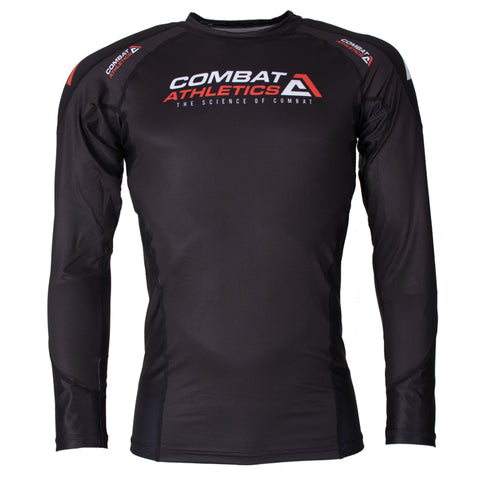 Combat Athletics Black Fight Performance Rash Guard