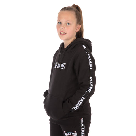 Kids Dweller Tracksuit (Hoodie and Joggers) - Black