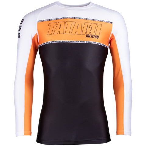 Contour Long Sleeve Rash Guard - Orange