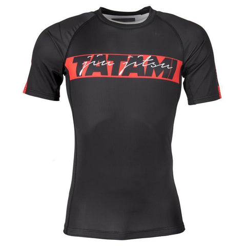 Red Bar Short Sleeve Rash Guard