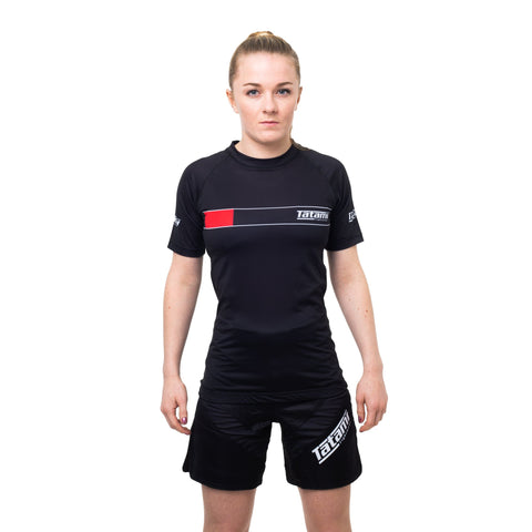 Ladies IBJJF 2020 Ranked Short Sleeve Rash Guard - Black