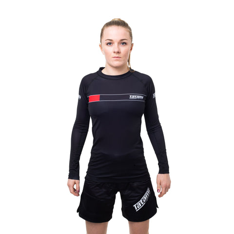 Ladies IBJJF 2020 Ranked Long Sleeve Rash Guard - Black