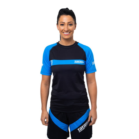 Ladies IBJJF 2020 Ranked Short Sleeve Rash Guard - Blue