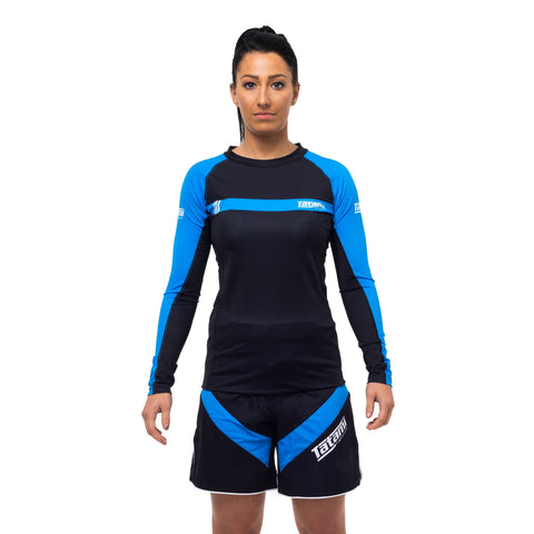 Ladies IBJJF 2020 Ranked Long Sleeve Rash Guard - Blue