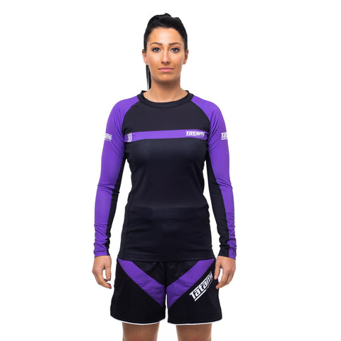 Ladies IBJJF 2020 Ranked Long Sleeve Rash Guard - Purple