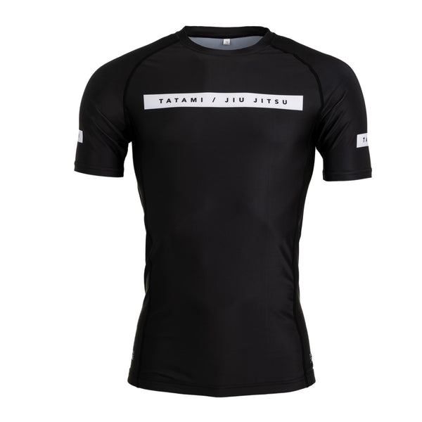 Rival Solid Black Short Sleeve Rash Guard
