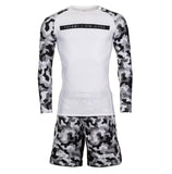 Rival White & Camo Grappling Shorts