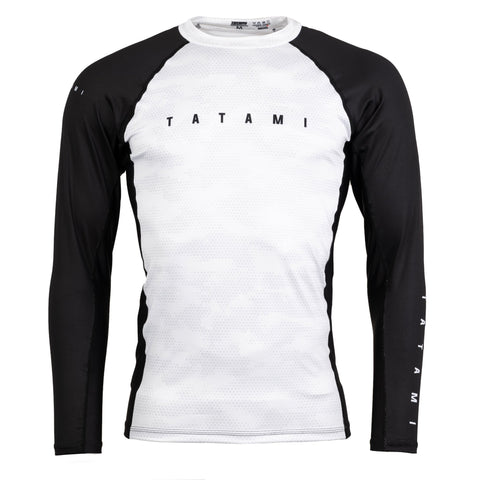 Standard Edition White Digital Camo LS Rash Guard