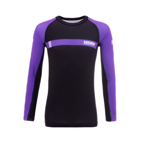IBJJF 2020 Ranked Long Sleeve Rash Guard - Purple