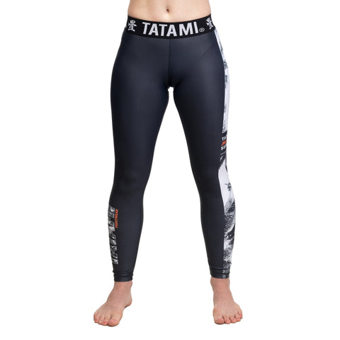 Ladies Tropic Black Grappling Spats