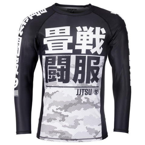 Essential Camo Long Sleeve Rash Guard - White