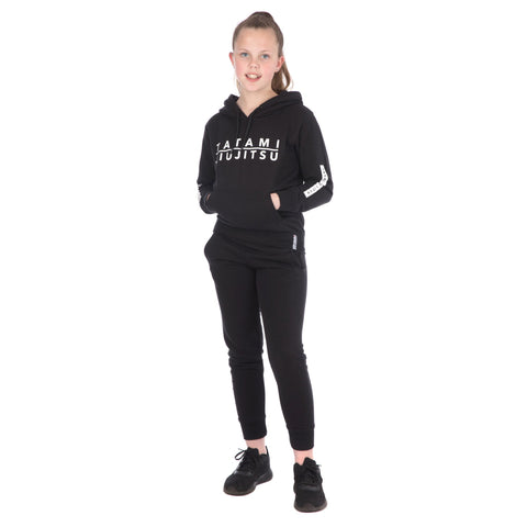 Kids Rival Tracksuit (Hoodie and Joggers) - Black