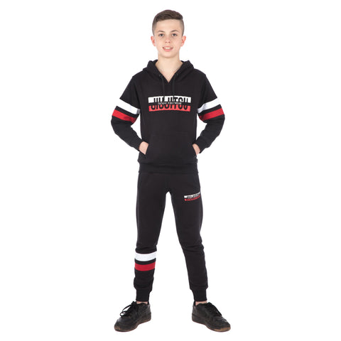 Kids Super Tracksuit (Hoodie and Joggers) - Black