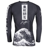 Kanagawa Long Sleeve Rash Guard - Black