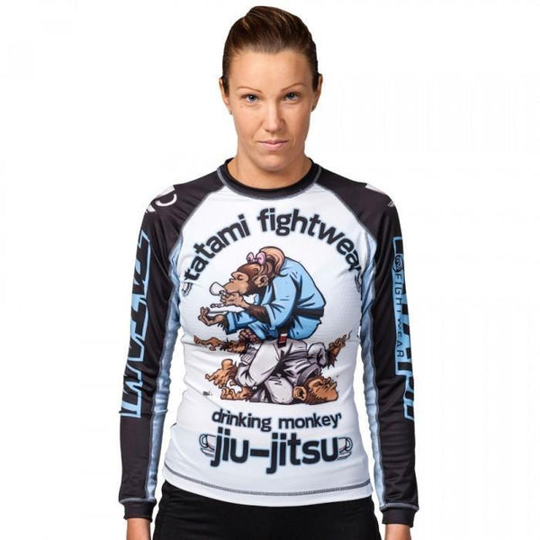 Ladies Drinker Monkey Rash Guard