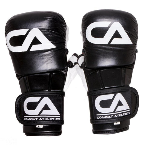 Combat Athletics Pro Leather Sparring MMA Gloves