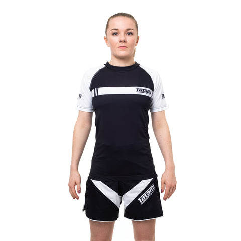 Ladies IBJJF 2020 Ranked Short Sleeve Rash Guard - White
