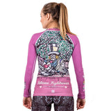 Ladies Meerkatsu Alice In Jiu-Jitsu Land Rash Guard