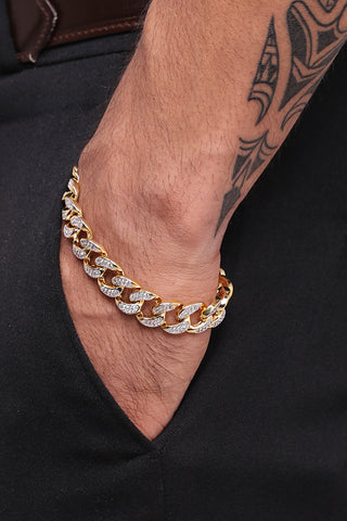 Image of Iced Out Cuban Bracelet (Free)