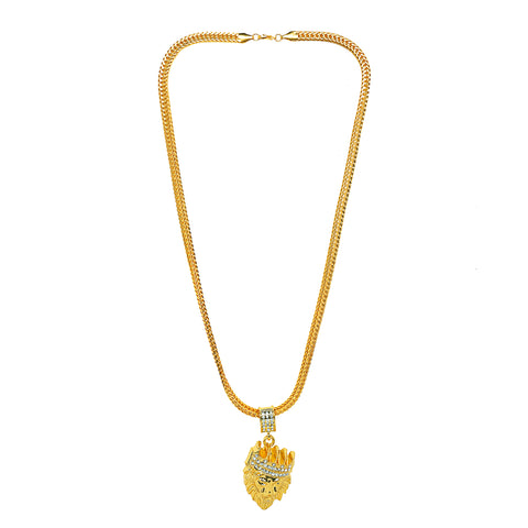 Lion Pendant: Best Selling Gold Lion Chain/Pendant (Free)