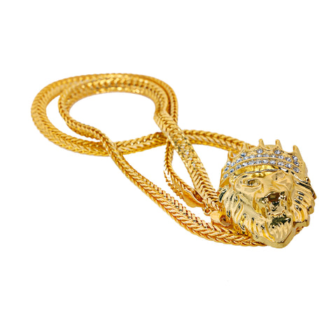 Image of Lion Pendant: Best Selling Gold Lion Chain/Pendant